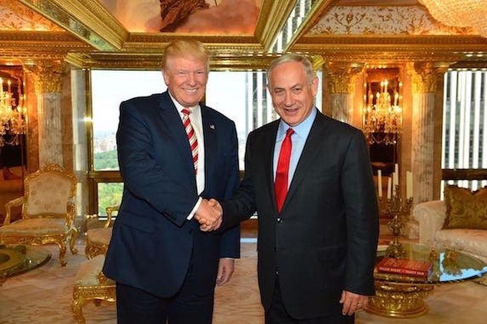 Donald Trump with Benjamin Netanyahu