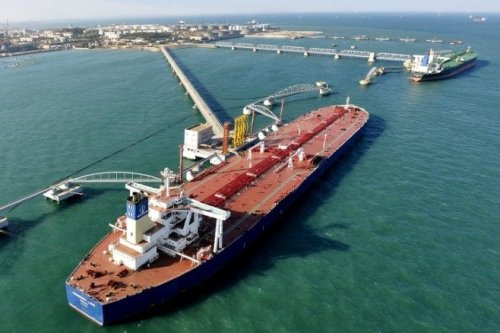 View of a crude oil importing port [REUTERS/Stringer/File Photo]