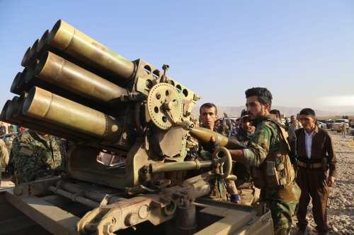 Iraqi Kurdish Regional Government's peshmerga forces in Iraq on October 20, 2016. [Feriq Fereç / Anadolu Agency]