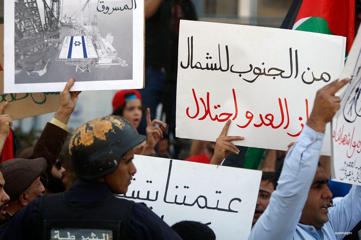 Jordanian protests Israel gas deal in Jordan on 21st October 2016. apaimages