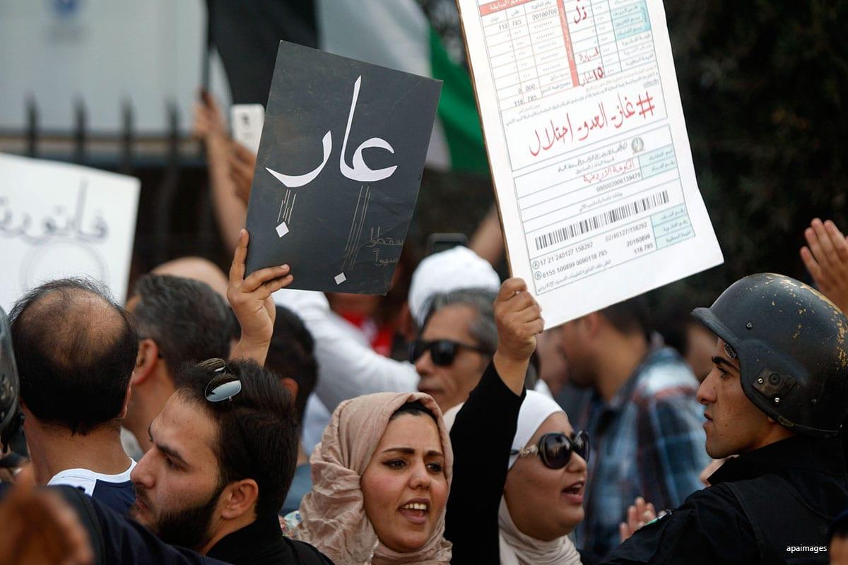 Jordanian protests Israel gas deal in Jordan on 21st October 2016. [Apaimages]
