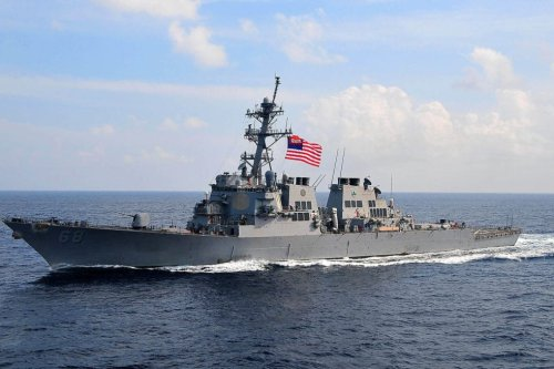 US Navy's guided-missile destroyer, the USS Sullivans [US Navy photo by Mass Communication Specialist 2nd Class Daniel Barker/Released]