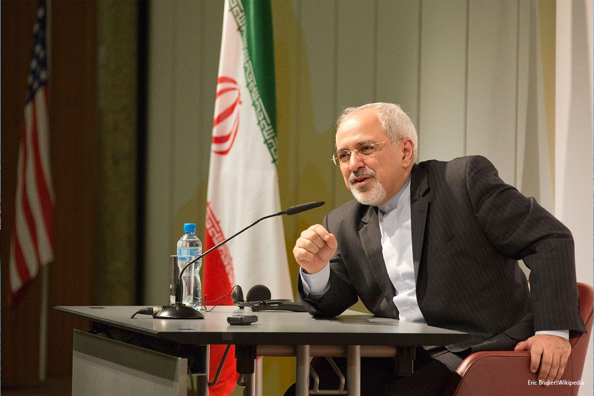 Iranian Foreign Minister Zarif Speaks to the Media on 24th November 2013 [Eric BridiersWikipedia]