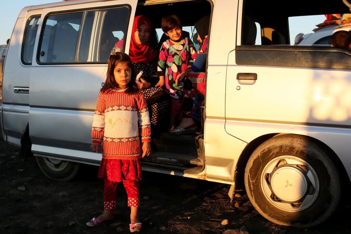 MOSUL, IRAQ - 3 NOVEMBER: Iraqi refugees. (Yunus Keleş - Anadolu Agency)