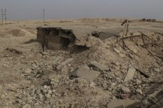 NIMRUD, IRAQ - NOVEMBER 16: Wreckage of the historical works, destroyed by Daesh terror organization, is seen in Nimrud in Mosul's southeast, which was taken back by the Iraqi army three days ago, on November 16, 2016. It has emerged that the Daesh terror organization has wreaked destruction on the ancient city of Nimrud in Iraq, not leaving a single historical work remaining. The ancient city by the river Tigris was seen to have been completely destroyed. The ancient city, which contained the tombs of many Assyrian kings and winged lion figures, is now ruined after Daesh occupation. It is no longer even possible to see a single remaining statue in the city, whose history has been erased. ( İdris Okuducu - Anadolu Agency )
