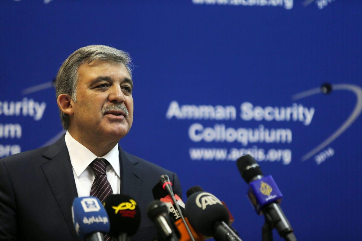 Former President of Turkey Abdullah Gul in Amman, Jordan on 16 November 2016 [Salah Malkawi/Anadolu Agency]