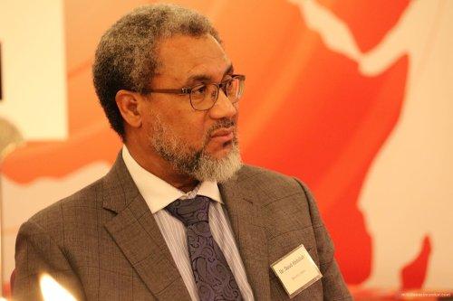 Dr Daud Abdullah, MEMO's Director at Palestine Book Awards 2016 [Middle East Monitor]
