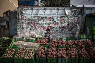 Palestinian children work under difficult conditions due to Israeli embargo over Gaza during the World children's day, on 20 November 2016 in Gaza City, Gaza. [Ali Jadallah - Anadolu Agency]