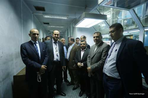 Palestinian Journalists visit al-ahram newspaper headquarters in Cairo [Yasser Qudih/Apaimages]