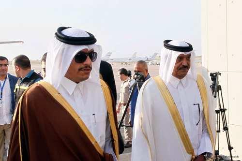 Qatar's Foreign Minister Sheikh Mohammed bin Abdulrahman Al-Thani [Furkan Güldemir/Anadolu]