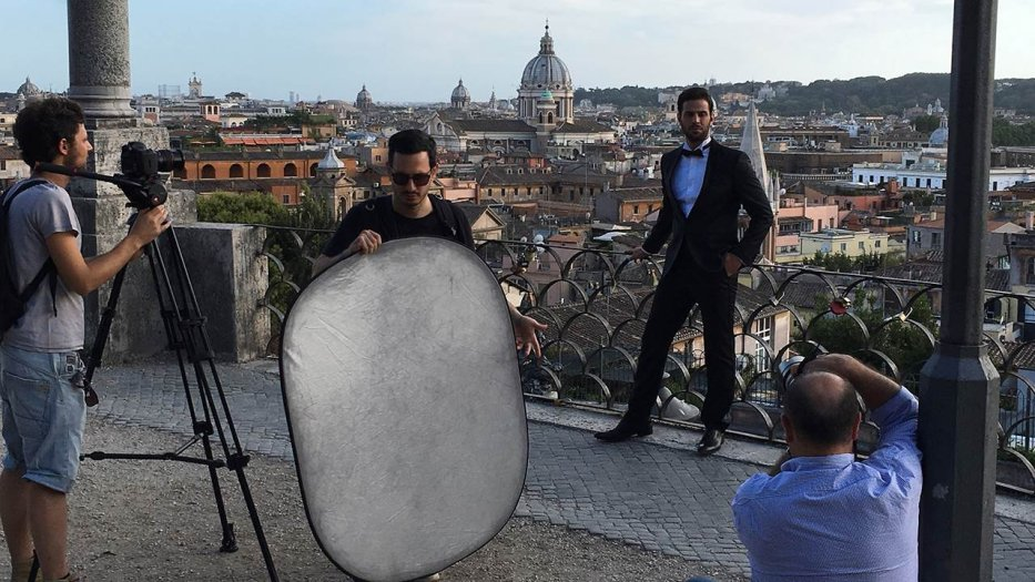 Omar Kamal during the shooting of his video clip for 'Love Never Felt So Good', Italy. [Elio L. Carchidi/Studio 154, Rome]