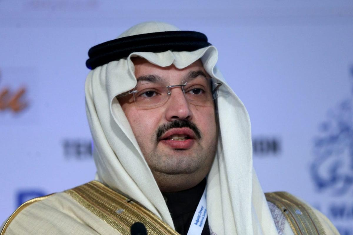 Saudi Prince Turki Bin Talal Bin Abdulaziz Al Saud delivers a speech during the 7th Bosphorus Summit organised by the International Cooperation Platform (ICP) at the Four Seasons Bosphorus hotel in Istanbul on 30 November 2016. [Berk Özkan/Anadolu Agency]