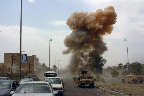 Image of a car bomb in Iraq [SPC Ronald Shaw Jr., U.S. Army/Wikipedia]