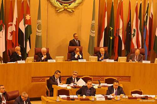 Image of a meeting at the Arab League headquarters [Amr Sayed/Apaimages]