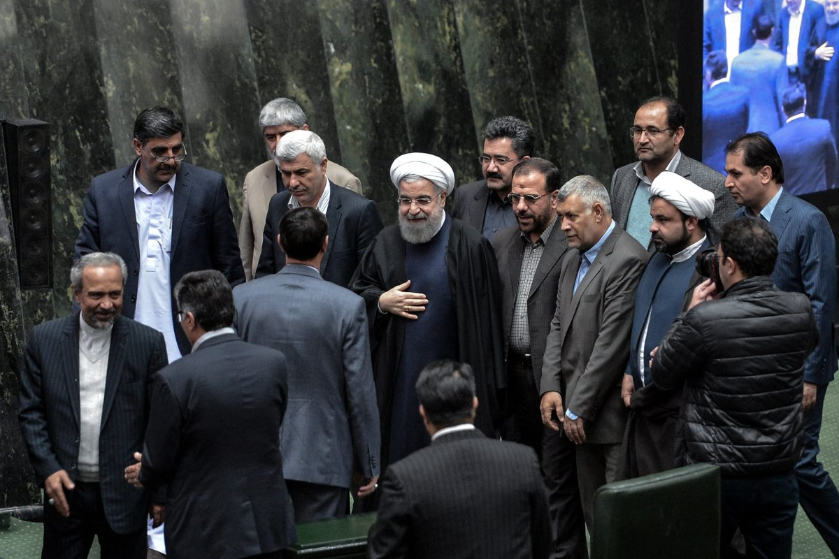 Image of the Iranian parliament in session [Fatemeh Bahrami / Anadolu Agency]