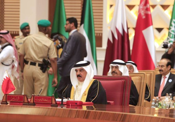 MANAMA, BAHRAIN - DECEMBER 6: King of Bahrain, Hamad bin Isa Al Khalifa attends the 37th Leaders Summit by Gulf Cooperation Council member states at Al-Sakhir Palace in Manama, Bahrain on December 6, 2016. ( Stringer - Anadolu Agency )