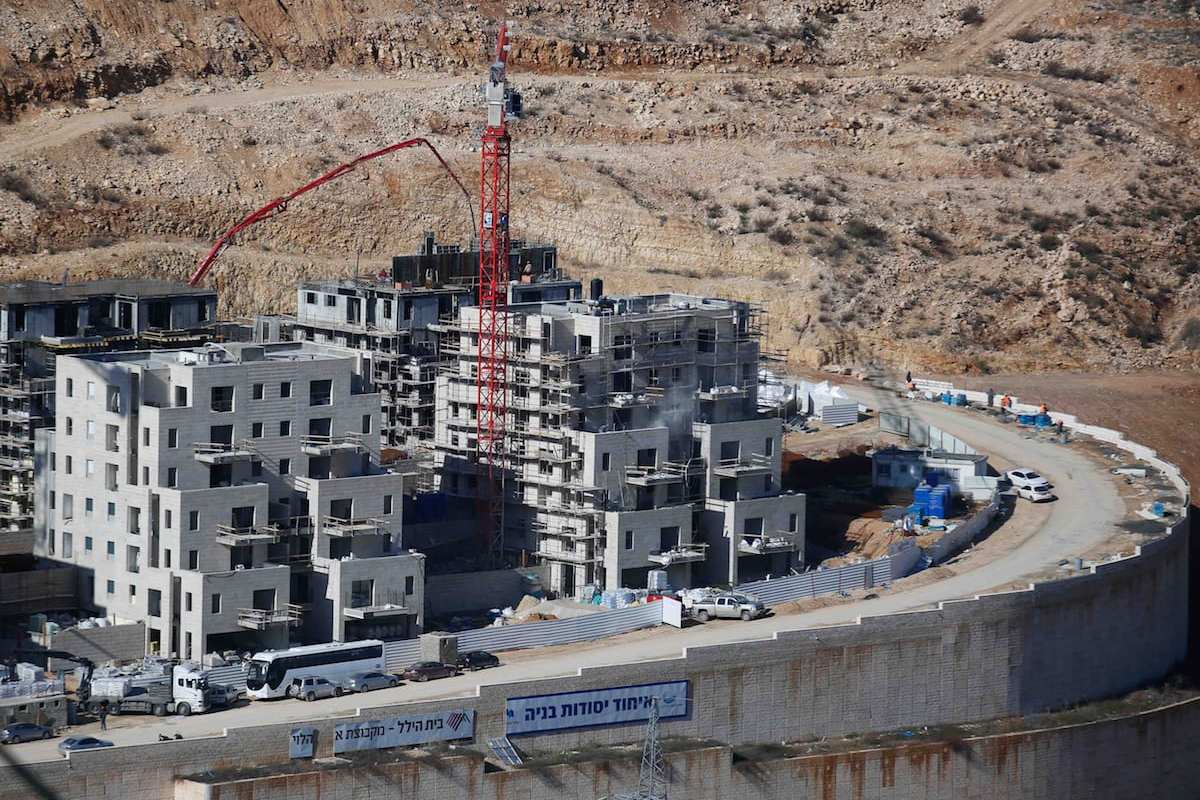 Settlement constructions by Israel continue in east of Jerusalem [Daniel Bar On/Anadolu]