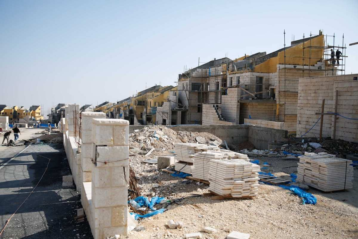 Settlement constructions by Israel continues in east of Jerusalem [Daniel Bar On/Anadolu]