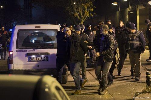 Image of Sahin S. being arrested in Ankara, Turkey on December 20 2016 [Emrah Yorulmaz/Anadolu]