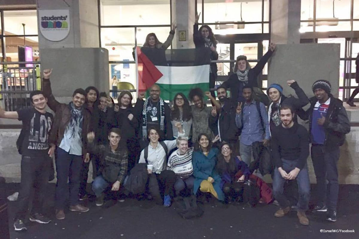 Sit-in at European Parliament in support Of Palestinian