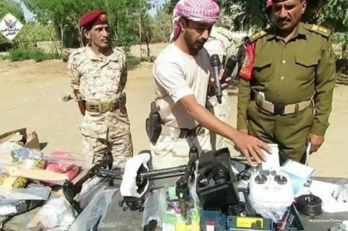 Image of the seized truck that was carrying drones on its way to the Houthi rebels [ALyemenNow/Twitter]