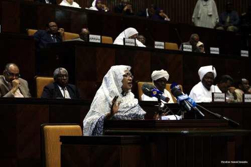 Image of Sudanese parliament in session [Ebrahim Hamid/Anadolu]
