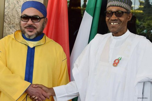 Moroccan King with Nigerian minister of foreign affairs on 4th December 2016 [m.masralarabia]