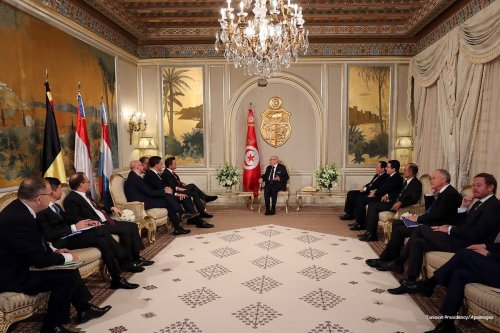 Benelux Prime Ministers visit Tunisia on 5th December 2016 [Tunisian Presidency/Apaimages]