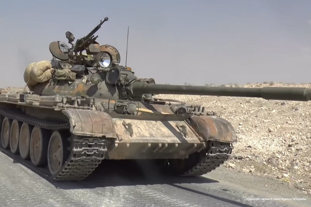 Image of an Army tank belonging to the Syrian government [Abkhazian Network News Agency/Wikipedia]