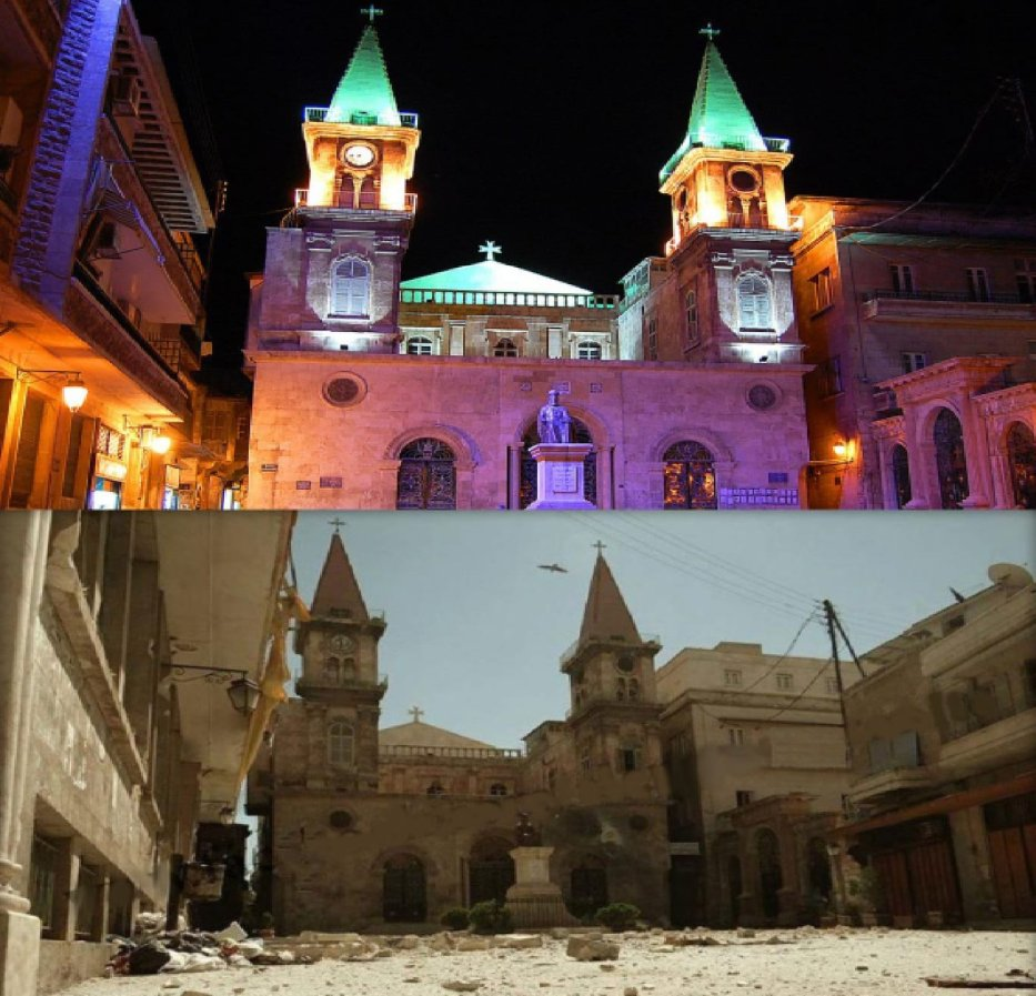 Saint Elias Cathedral, an Eastern Catholic church in Farhat Square, Aleppo (Carlo Ohanian/Olympia)