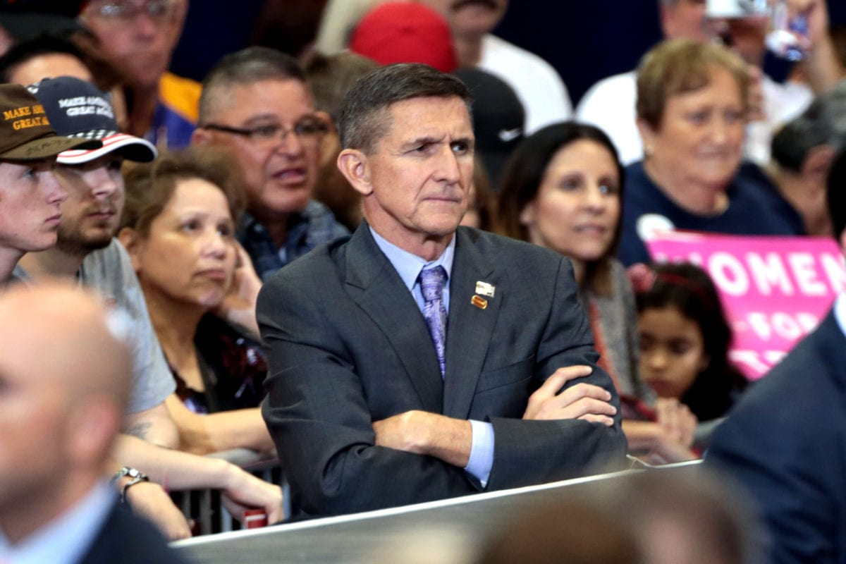 trump s advisor flynn who called islam a cancer forced out image of michael flynn at a campaign rally for donald trump in phoenix arizona