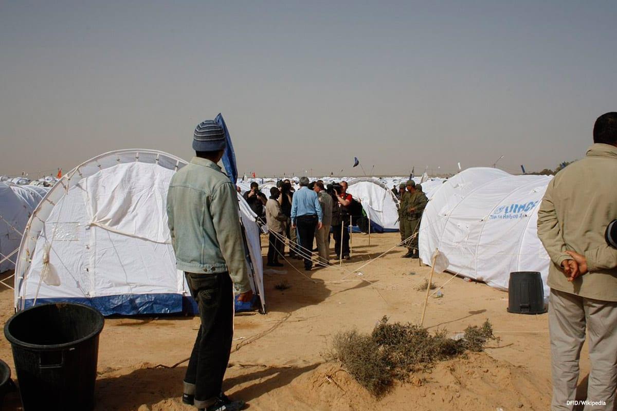 Image of migrants in Libya [DFID/Wikipedia]