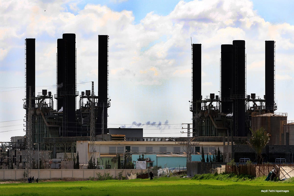 The power plant that generates electricity in central Gaza [Majdi Fathi/Apaimages]