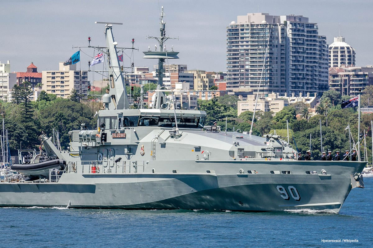 Image of an Australian navy ship [Hpeterswald /Wikipedia]