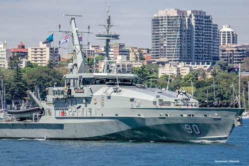 Image of an Australian navy ship [Hpeterswald /Wikipedia]