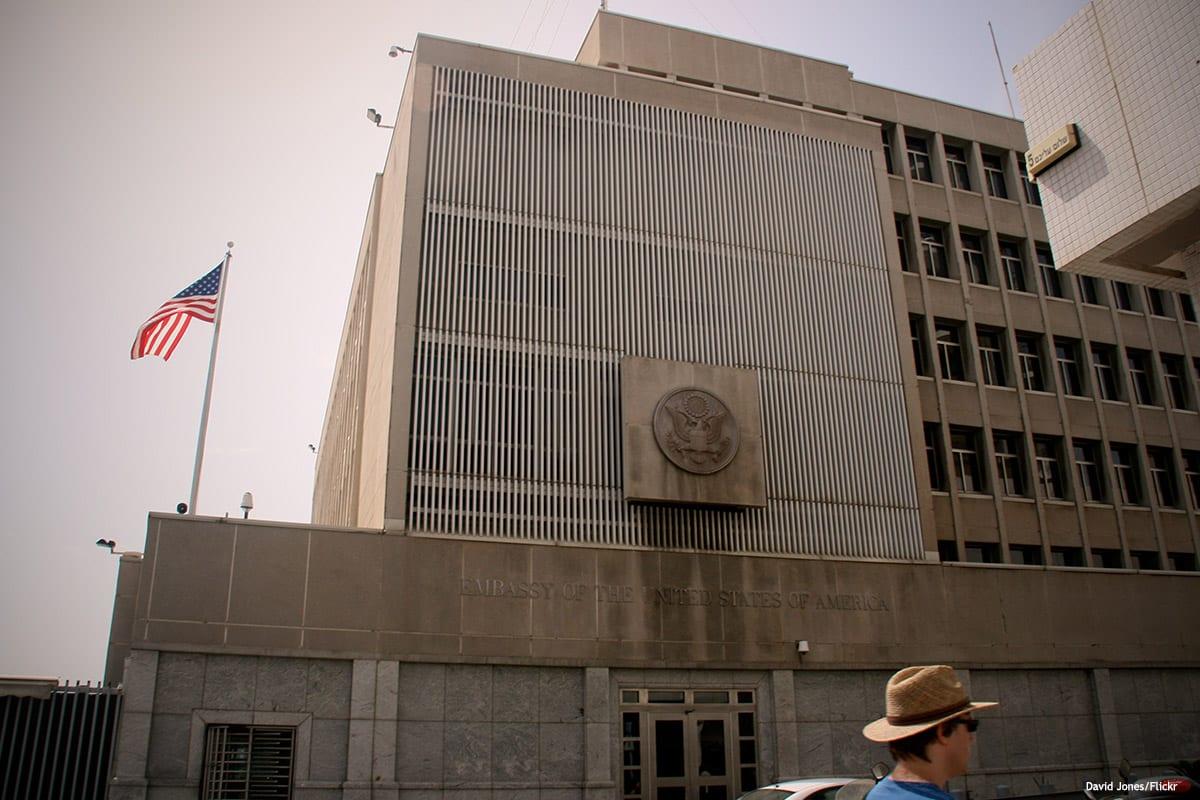 Image of US embassy in Tel Aviv, Israel [David Jones/Flickr]
