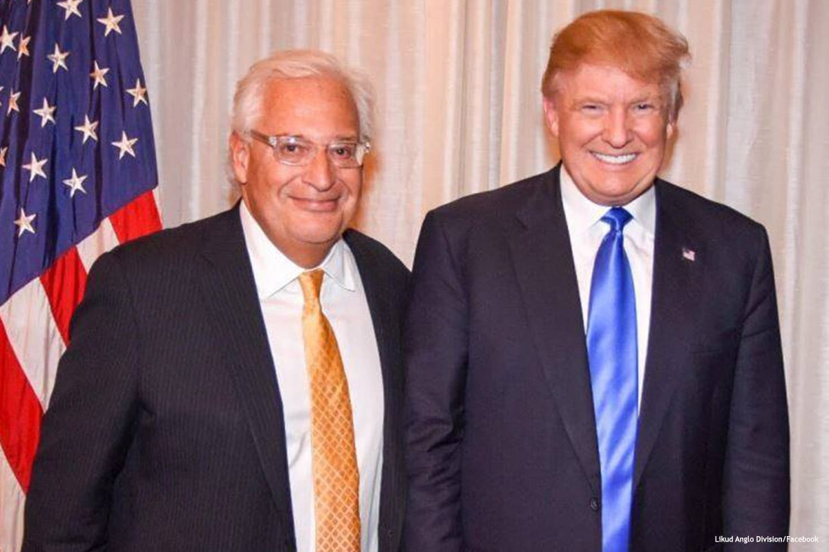 Image of US President Donald Trump (R) and David Friedman [Likud Anglo Division/Facebook]
