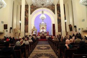 TEHRAN, IRAN- Armenians attend New Year Mass