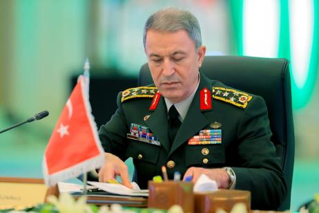 "RIYADH, SAUDI ARABIA - JANUARY 15: Chief of the General Staff of Turkey, Hulusi Akar attends the ""Fight against Daesh"" meeting in Riyadh, Saudi Arabia on January 15, 2017. ( Suudi Arabistan Savunma Bakanlığı - Handout - Anadolu Agency )"