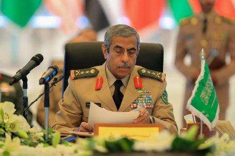 "RIYADH, SAUDI ARABIA - JANUARY 15: Abdulrahman bin Saleh Al Bunyan, Chief of General Staff of Saudi Arabia attends the ""Fight against Daesh"" meeting in Riyadh, Saudi Arabia on January 15, 2017. ( Suudi Arabistan Savunma Bakanlığı - Handout - Anadolu Agency )"