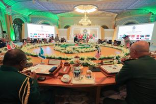 "RIYADH, SAUDI ARABIA - JANUARY 15: Military heads from a total of 13 countries attend the ""Fight against Daesh"" meeting in Riyadh, Saudi Arabia on January 15, 2017. ( Suudi Arabistan Savunma Bakanlığı - Handout - Anadolu Agency )"