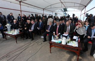 GAZA CITY, GAZA - JANUARY 19: Inaguriation ceremony of the European Union (EU) and UNICEF funded huge sea-water desalination plant with the attendance of the high level delegation from EU and UN is held in Deir al Balah, Gaza on January 19, 2017. ( Ashraf Amra - Anadolu Agency )