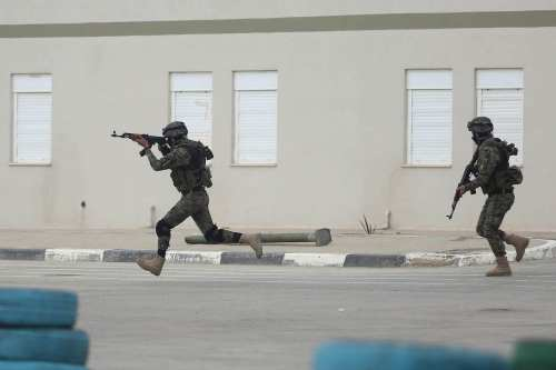 Image of Palestinian National Security Forces (NSF) in West Bank [Issam Rimawi/ Anadolu Agency]