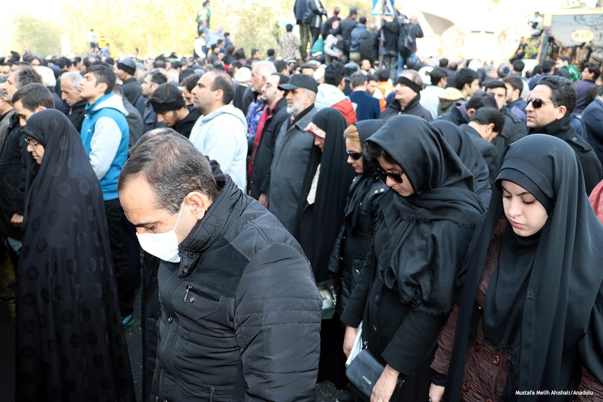 Thousands of Iranian people attend the funeral ceremony held for the former President of Iran Akbar Hashemi Rafsanjani [Mustafa Melih Ahıshalı/Anadolu]