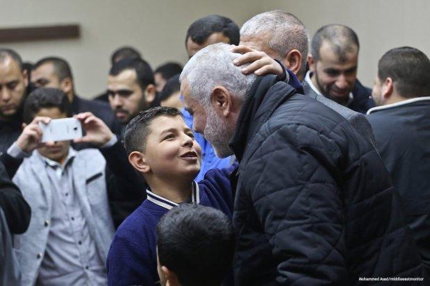 The deputy head of Hamas' political bureau, Ismail Haniyeh returns to Gaza [Mohammed Asad/middleeastmonitor]