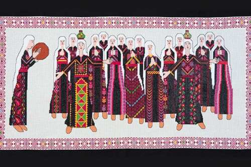 Image of Palestinian embroidery work