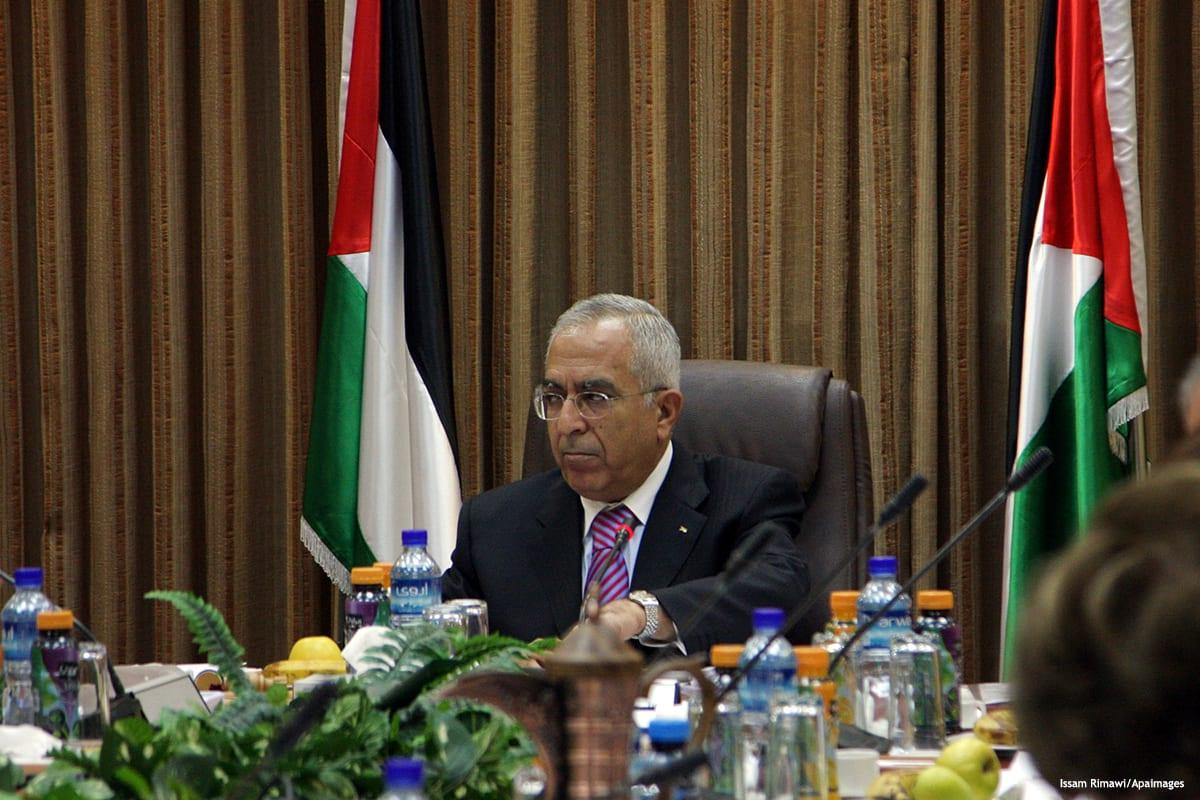 Image of former Palestinian Prime Minister Salam Fayyad [Issam Rimawi/Apaimages]