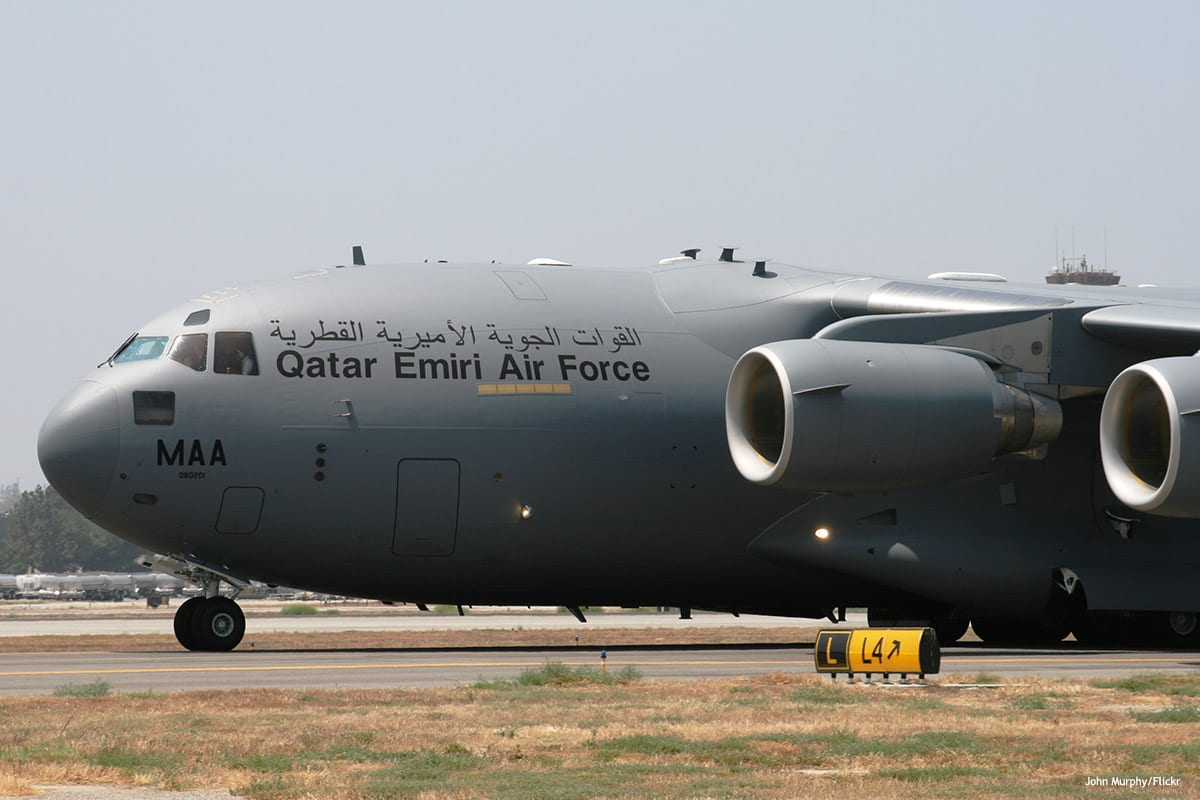 Image of Qatari air force [John Murphy/Flickr]