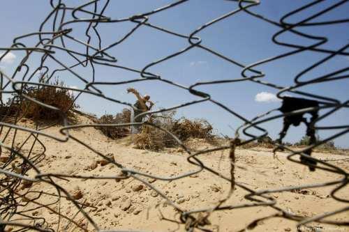 Image of barbed wires around Palestinian farmland [Abed Rahim Khatib/Apaimages]