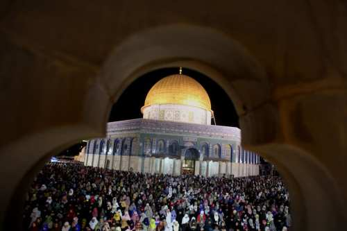 The Dome of the Rock Mosque part of the Al-Aqsa Mosque compound in occupied Jerusalem. [Mahfouz Abu Turk/Apa Images]